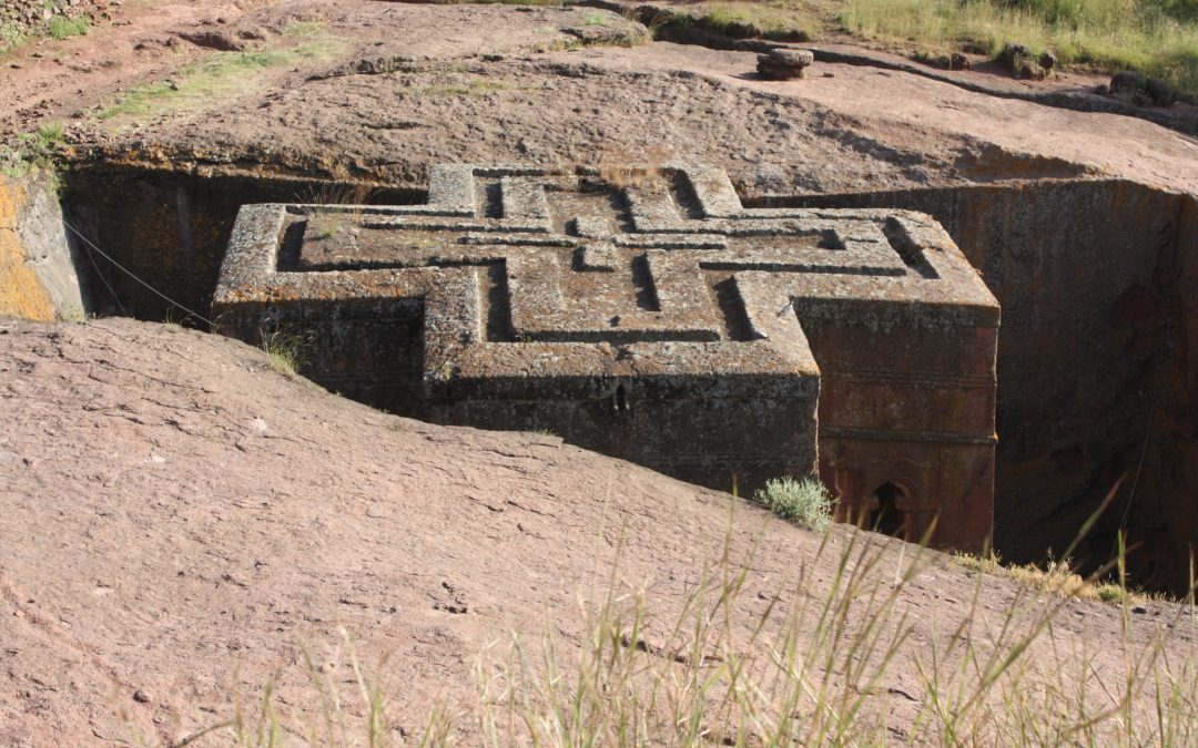 Rock-hewn churches at Lalibela, Ethiopia