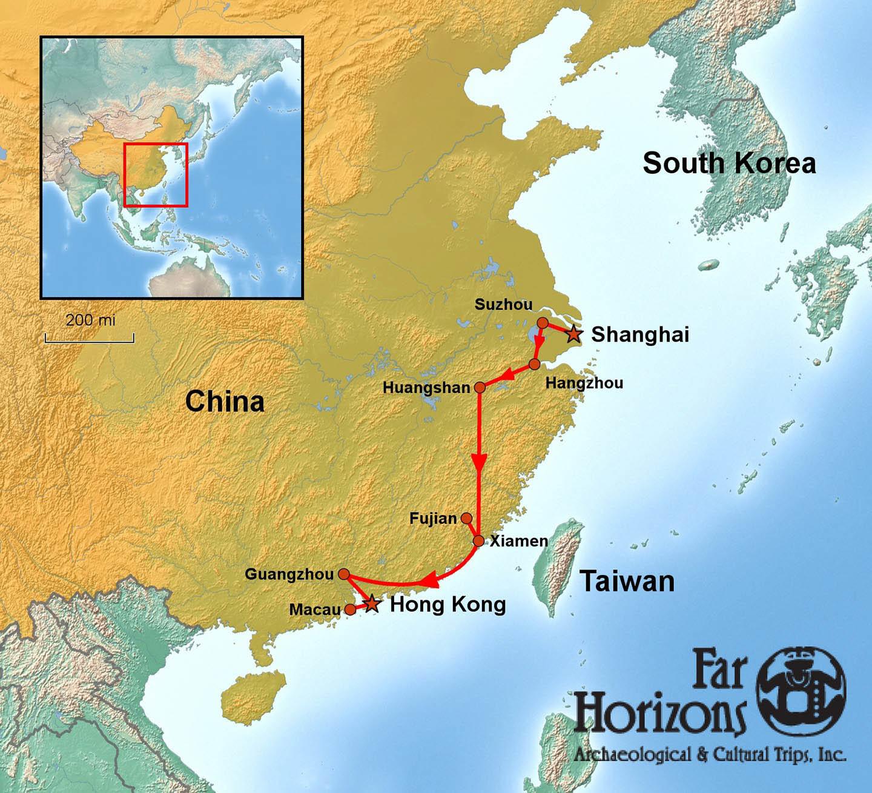 Macau On World Map.Southeast China Maritime Silk Road Tour Shanghai Macau Map Far