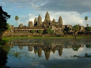 Angkor Wat at sunset Cambodia