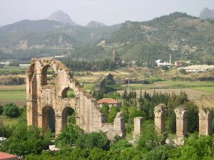 Aspendos Aqueduct western Turkey tour classical archaeology tour
