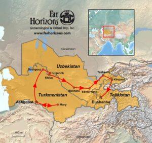 Central-Asia-Tour-Map-Turkmenistan-Uzbekistan-Tajikistan