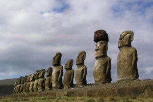 Easter-Island-Tour-Polynesia-Tapati-Festival-Beach-Scene-Statues-Tongariki-Statues