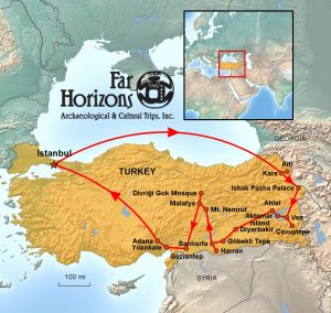 Far Horizons Eastern Turkey Tour Map