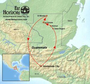 Gautemala-Tour-Kaan-Snake-Maya-El-Mirador-La-Corona-Holmul-Map-2