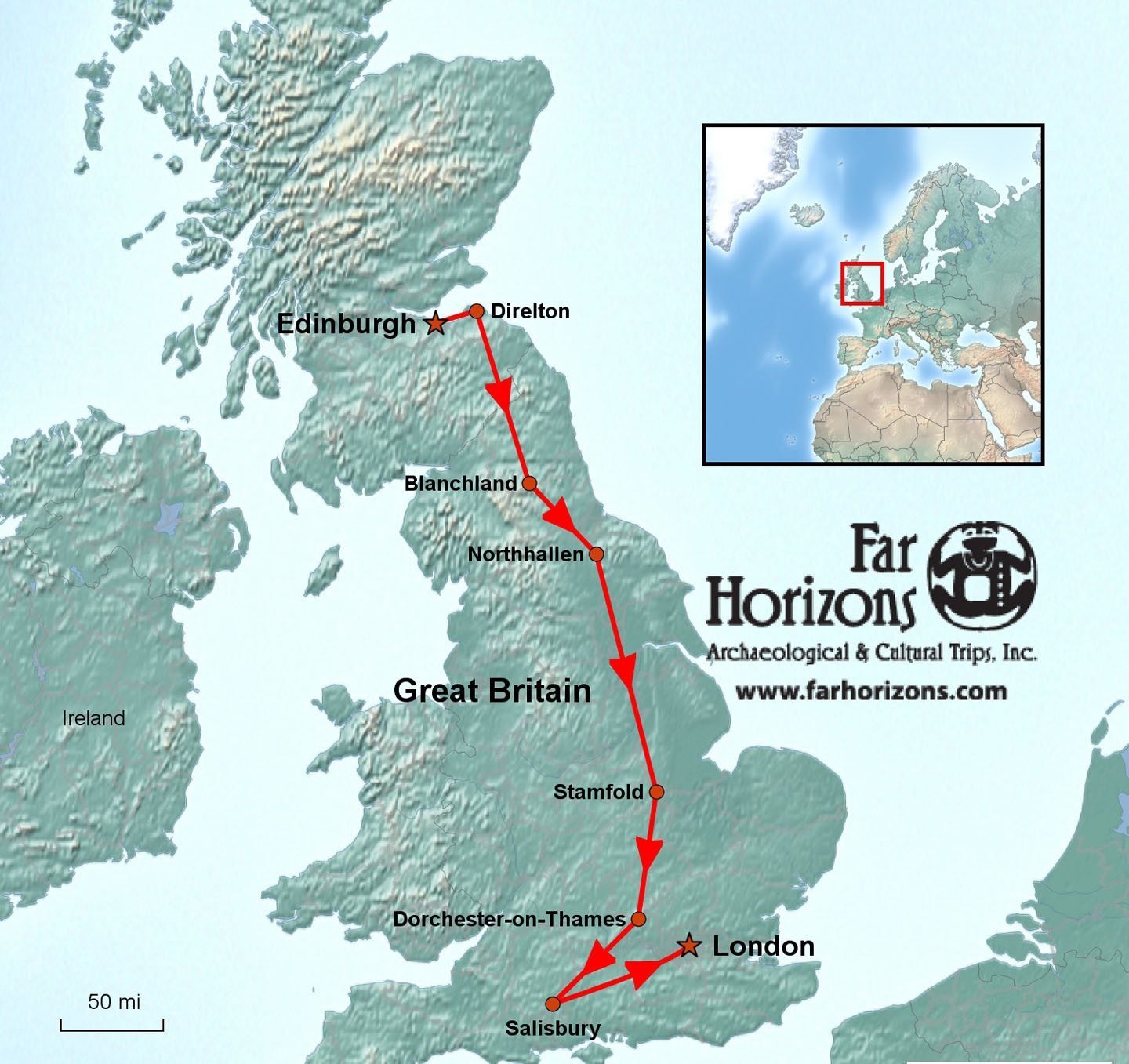 Great Britain Tour from Edinburgh to London