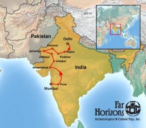 India-Tour-Gujarat-Rajasthan-Map