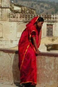 India-Tour-Gujarat-Rajasthan-woman-red