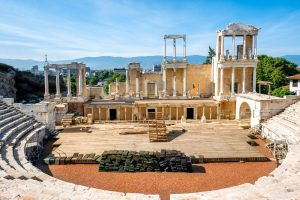 Plovdiv Roman theater Plovdiv, Bulgaria ancient theater archaeology tour educational tour