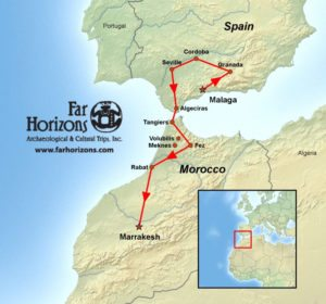 Spain-Morocco-Tour-Map