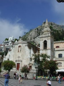 Taormina main plaza Far Horizons Sicily Tour