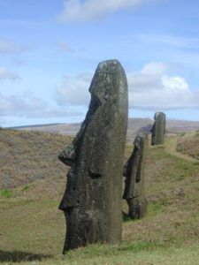 Easter Island tour. Moai on Easter Island