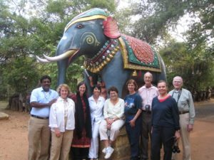 south india tour group at Ayannar Temple - with Sudhakar