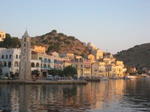 Simi Island Greece sunrise