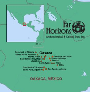 Far Horizons Oaxaca tour map