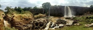 Blue Nile falls panorama