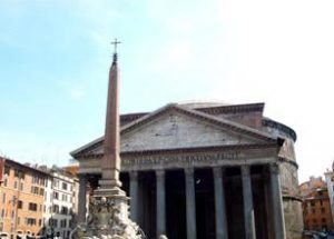 Pantheon with obelisk Rome
