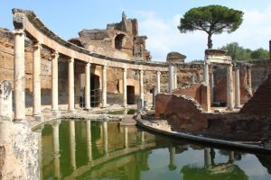 Interior of Hadrian's Villa Rome