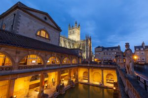 Bath roman bath and abbey England tour