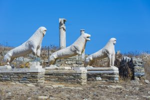 Delos lions Greek Islands tour Archaeology tour