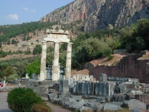 Delphi Athena temple Greece tour