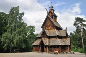 Gol stave church in Folks museum Oslo Norway Viking tour archaeology tour
