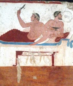 Paestum mural Far Horizons Italy archaeology tour