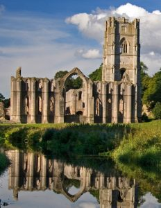 Fountains Abbey ruins Far Horizons England archaeology tour