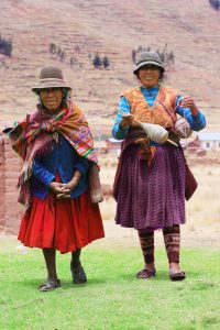 Bolivia women Far Horizons archaeology tour