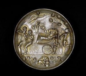 British MuseumSasanian plate Silk Road tour