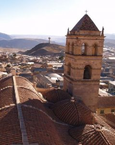 Potosi church vertical Bolivia Far Horizons archaeology tour