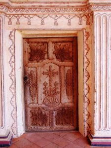 San Javier carved door Jesuit Bolivia Far Horizons archaeology tour