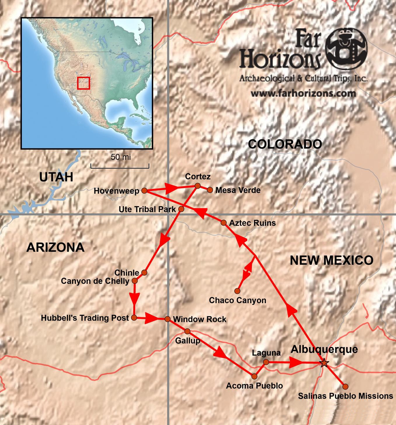 Four Corners of the American Southwest Tour