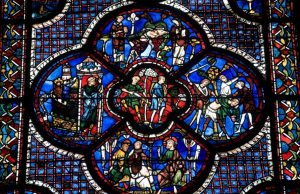 Chartres cathedral stained glass France tour Bill Cook