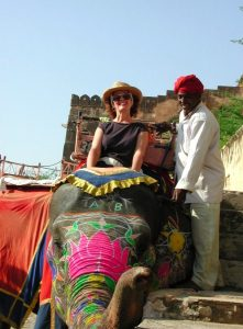 Elephant ride Liza India tour