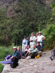 Hikers Hike Inka Trail Peru