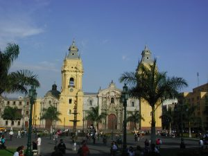 Lima cathedral Peru tour