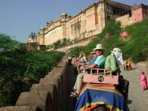 elephant ride to Amber Fort India tour