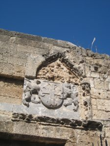 Rhodes coat of arms archaeology tour history tour