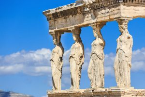 Acropolis Caryatids Greece tour archaeology educational UNESCO