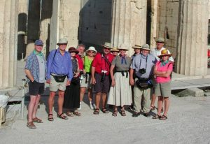 Group temple Greece tour