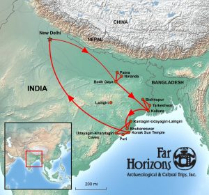 Far Horizons Eastern India tour map