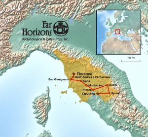 Far Horizons Tuscany & Umbria Tour Map