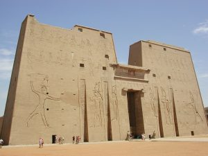 Edfu facade Far Horizons Archaeology Egypt tour