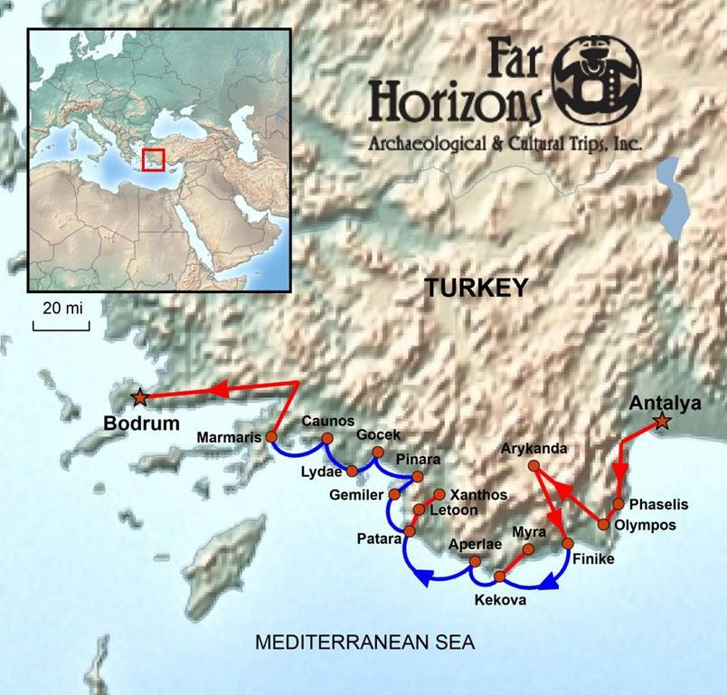 SSS Turkey Far Horizons tour map