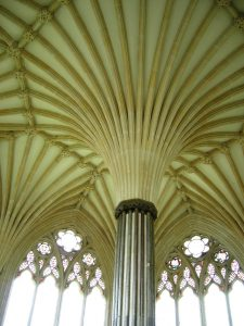 Wells Catheral ceiling Far Horizons England archaeology tour