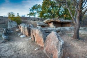 Thracian dolmen located near Hlyabovo Bulgaria tour